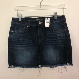 Express Denim Cutoff Mini Skirt Size 4 NWT